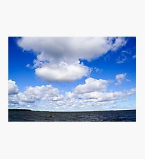 Dramatic cloudscape with anvil cloud. Photographed in Saint Petersburg, Russia  Photographic Print