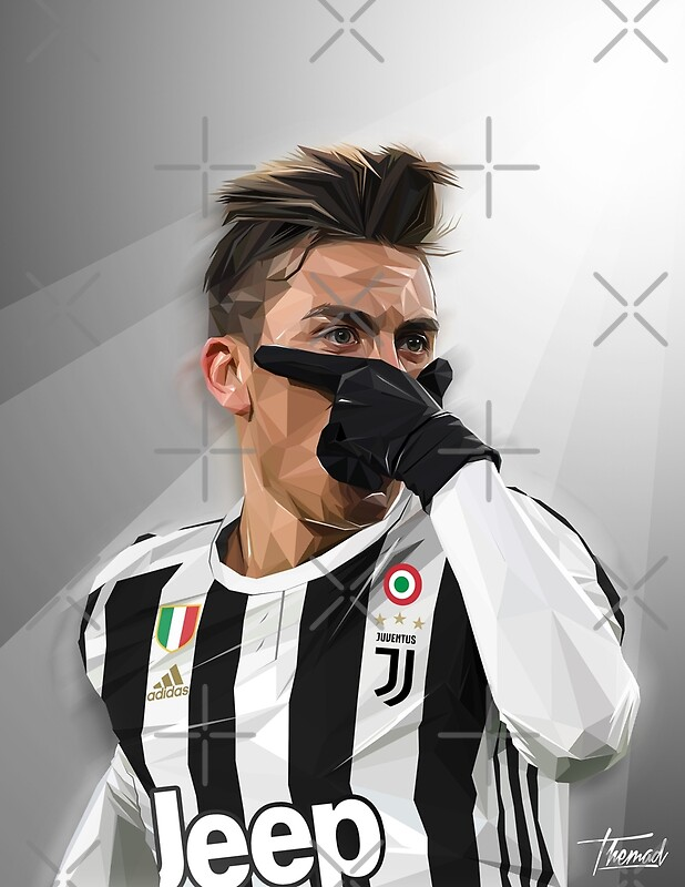 """DYBALA MASK / 2018 VERSION"" Posters by Jey13 