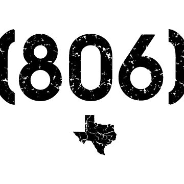 Area Code 806 Texas by BearSquared
