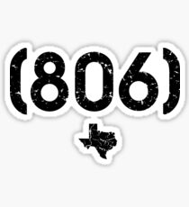 Area Code 806 Texas Sticker