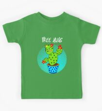 Cute Kawaii Free Hugs Smiling Cactus Plant Trendy Graphic Kids Clothes