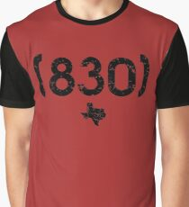 Area Code 830 Texas Graphic T-Shirt