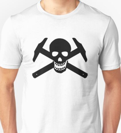 Architectural Jolly Rogers - Black Image T-Shirt