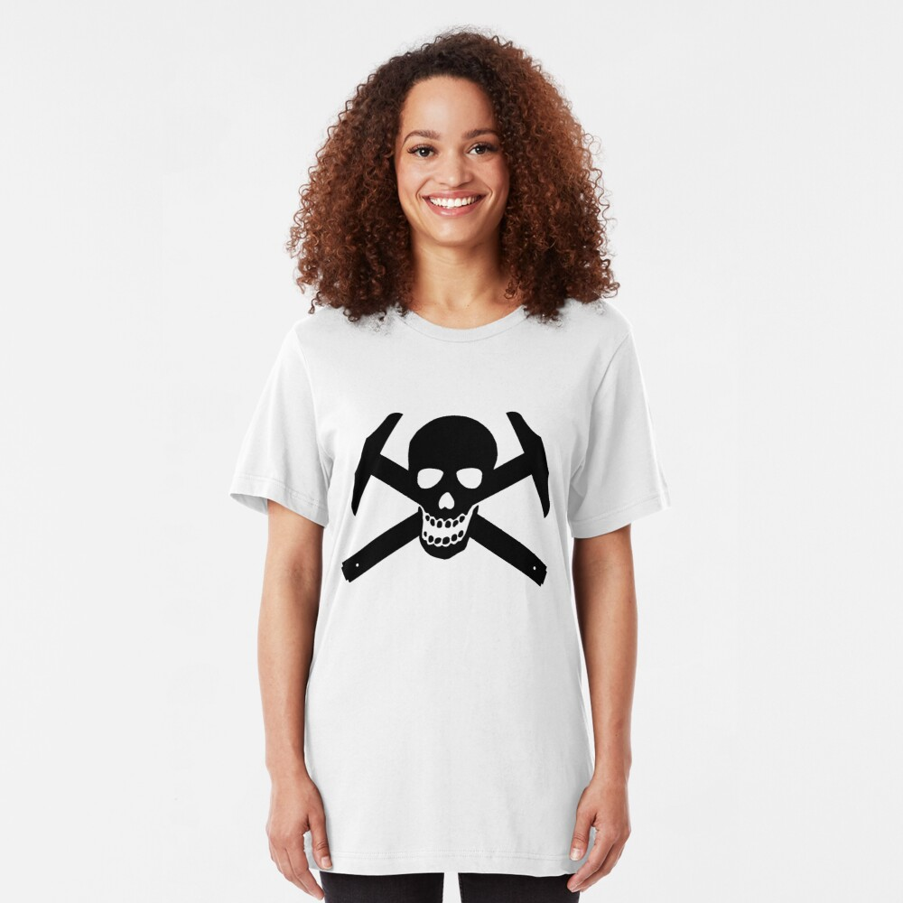 Architectural Jolly Rogers - Black Image Slim Fit T-Shirt