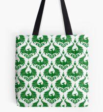 Dragon Damask - Emerald Green Tote Bag