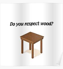 Larry David- Wood Detective Poster