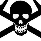 Architectural Jolly Rogers Black Image (sticker only) by Bob Borson