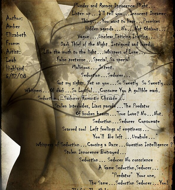 Seduction Seducer collab with Amber Elizabeth Fromm by Leah Highland