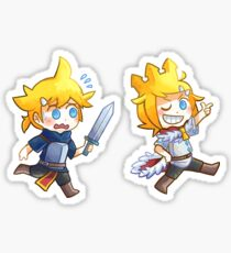 Kagamine twins - king and knight Sticker