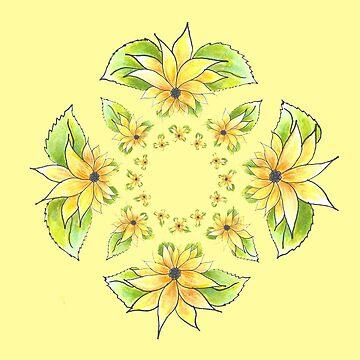 Sunflower Circle by CarolineLembke