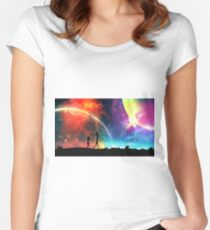 the universe is under no obligation to make sense to you Women's Fitted Scoop T-Shirt