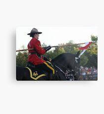 Canadian Mountie Metal Print