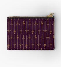 Swords - Gold & Purple Zipper Pouch