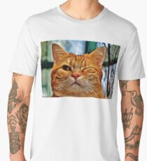 Winky Funny Cat Shirt, Stickers, Phone Case (And More) Men's Premium T-Shirt