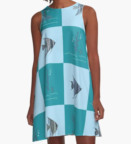 AFE Angelfish Pattern A-Line Dress