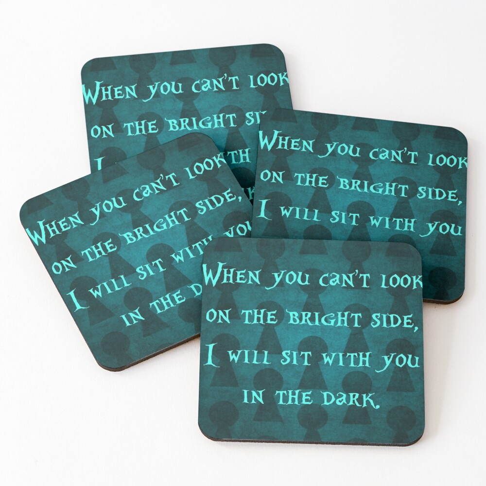 On the Bright Side #2 with Background Coasters (Set of 4)