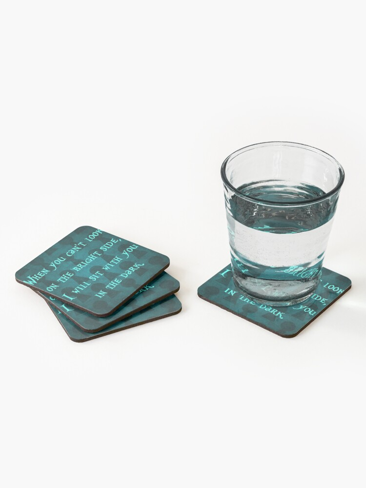 Alternate view of On the Bright Side #2 with Background Coasters (Set of 4)