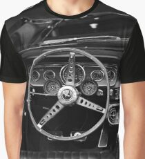 ford mustang, cockpit detail - black white Graphic T-Shirt