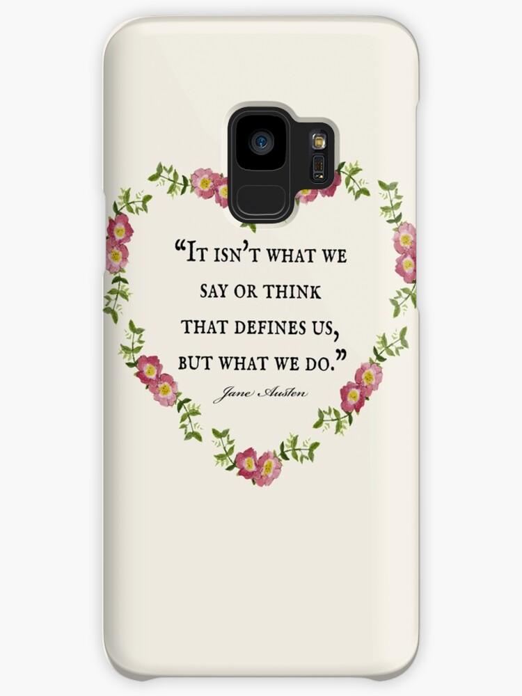 Jane Austen Floral Defines Us Quote Cases Skins For Samsung