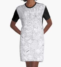 Metropolis Graphic T-Shirt Dress