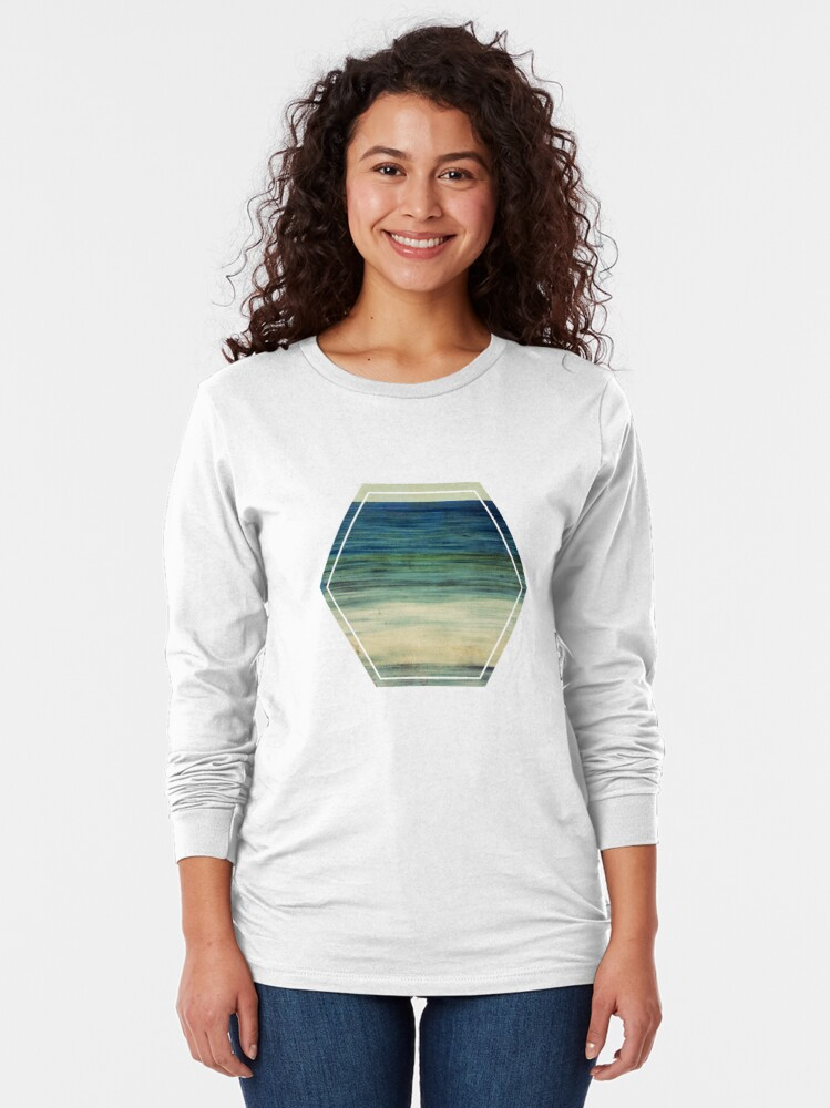 Alternate view of Abstract Seascape No 2 Long Sleeve T-Shirt