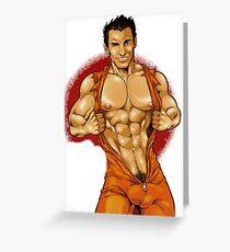 Gay fireman Greeting Card