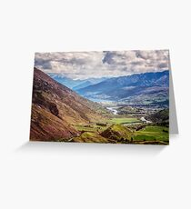 Crown Range Road New Zealand View Greeting Card