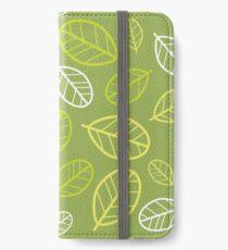 Carob Tree Leaves iPhone Wallet