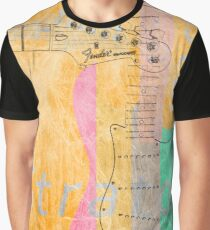 Fender Stratocaster Guitar Digital Painting Graphic T-Shirt