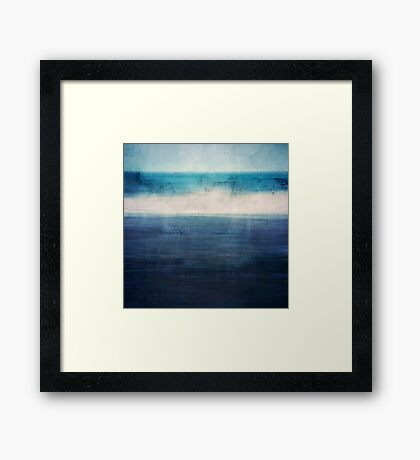 Abstract Seascape No 3 Framed Print
