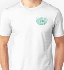 Kaws companion head blue white T-Shirt