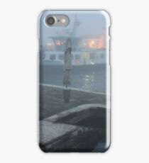 Mist Over Venetian Harbour iPhone Case/Skin
