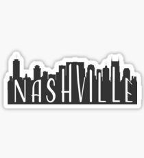 skyline silhouette - nashville Sticker