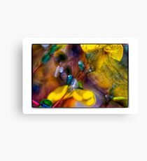 droplets & flowers in abstract Canvas Print