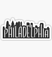 skyline silhouette - philadelphia Sticker