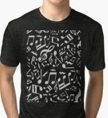 Violin Key Music Pattern Tri-blend T-Shirt