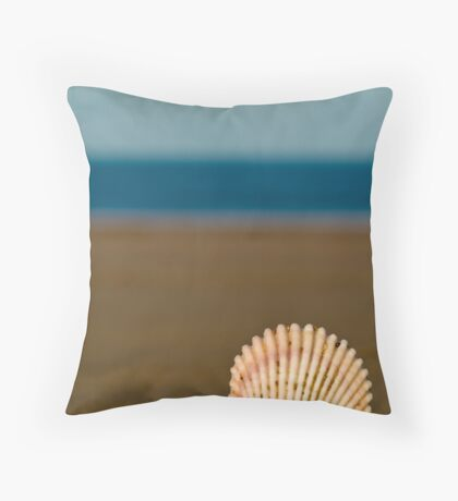 Shell by the Sea Throw Pillow