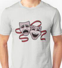 Komödie und Tragödie Theater Masken Unisex T-Shirt