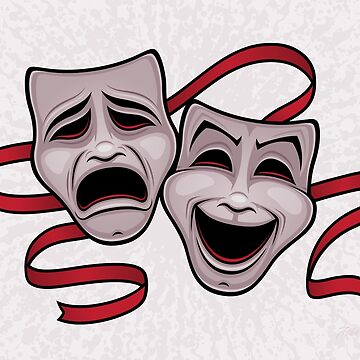 Comedy And Tragedy Theater Masks by fizzgig