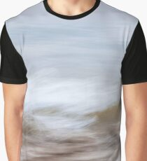 Waves and sand abstract Graphic T-Shirt