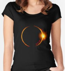 Solar Eclipse of 2017 Women's Fitted Scoop T-Shirt