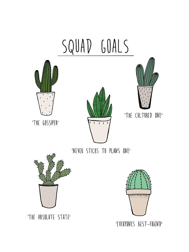 Kader Ziele Kaktus Stil von J-a-s-design