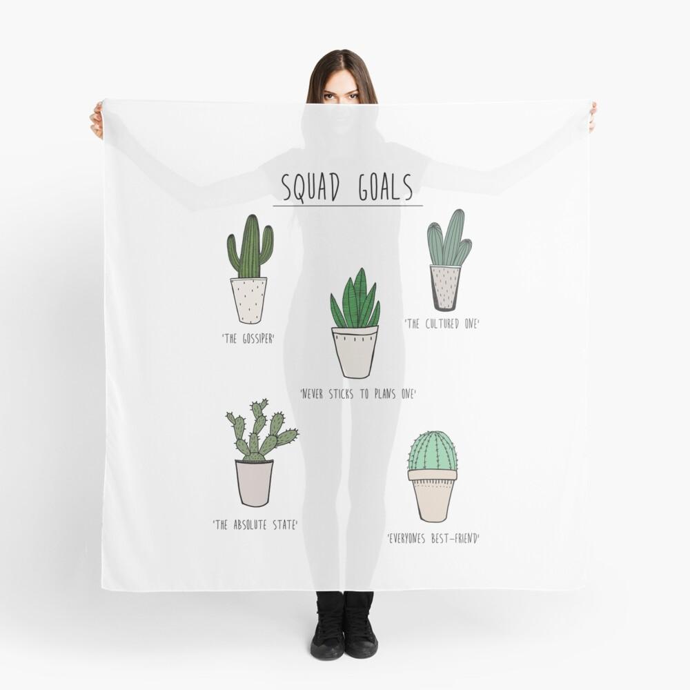 Kader Ziele Kaktus Stil Tuch