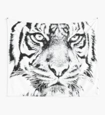 Angry Tiger Wall Tapestry