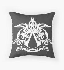 assassins creed white Throw Pillow