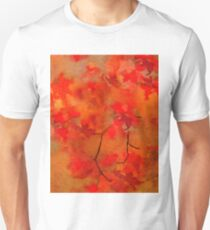 Autumn Bright Orange and Red Watercolor T-Shirt