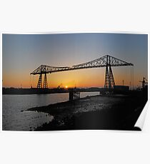 The Transporter Bridge at Middlesbrough England Poster
