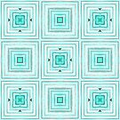 Light blue pattern with squares by Silvia Ganora