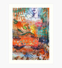 orange field part 1 Art Print