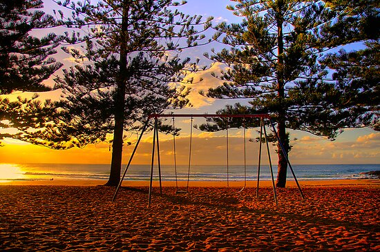 Swing Time  - Whale Beach - Sydney Beaches  - The HDR Series by Philip Johnson